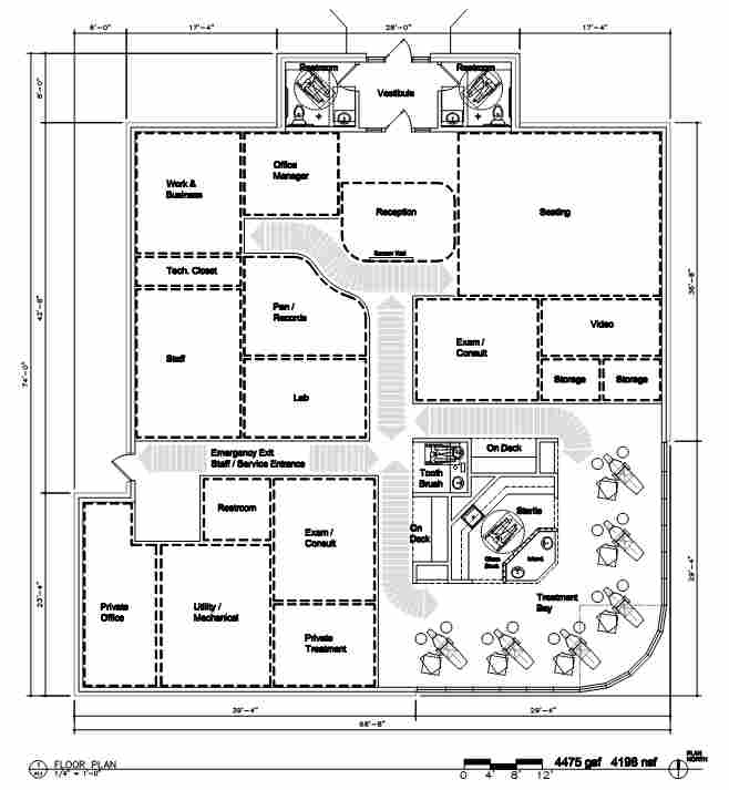 Orthodontics Office Building Plan